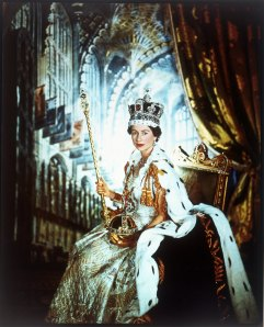 Cecil Beaton, Queen Elizabeth II in Coronation Robes, June 1953 (c) V&A images