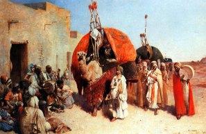 Philippe Pavy 'Bride arriving in a village, Biskra, Algeria'