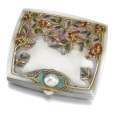 A JEWELLED SILVER AND ENAMEL CIGARETTE CASE, BOLIN, MOSCOW, 1899-1908