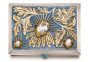 A jewelled silver and enamel cigarette case, Bolin, workmaster Konstantin Linke, Moscow, 1899-1908 sold at Sothesby's