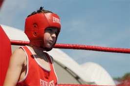 boxer portrait - Olympicfest Chisinau by Natalia Donets