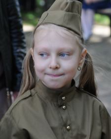 Girl soldier - 9th of May in Chisinau by Natalia Donets