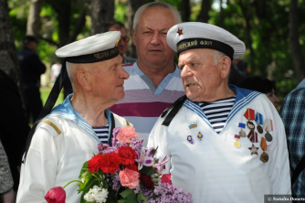 Marines 9th of May in Chisinau by Natalia Donets