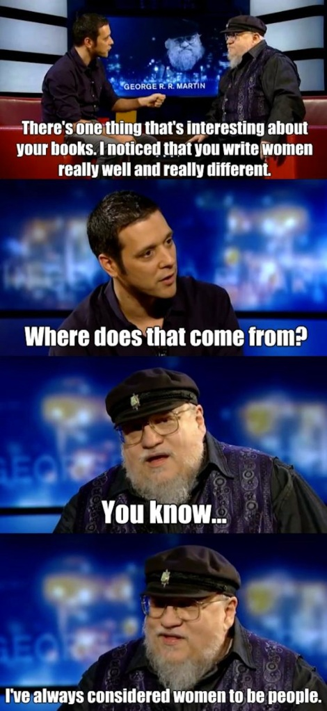 George R. R. Martin women moment