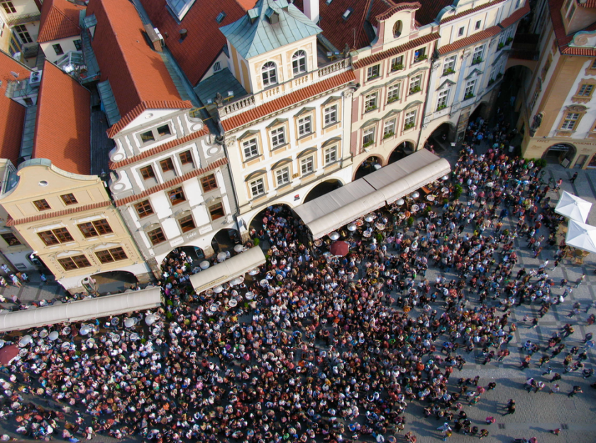 Prague crowds by Natalia Donets